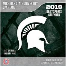 Michigan State Spartans 2019 Boxed Desk Calendar