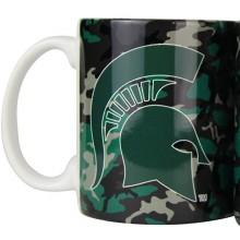 Michigan State Spartans Camouflage 11oz Coffee Mug