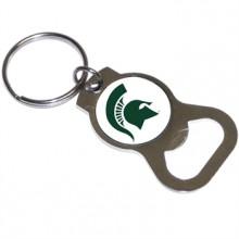 Michigan State Spartans Bottle Opener Keychain