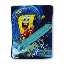 "Nickelodeon Spongebob Squarepants ""Wave Rider"" Super Plush Throw Blanket"