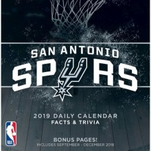San Antonio Spurs 2019 Boxed Desk Calendar