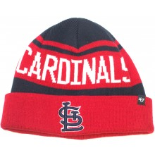 MLB Officially Licensed St. Louis Cardinals '47 Brand Breakaway Pom Cuffed Knit Beanie Hat Cap Lid