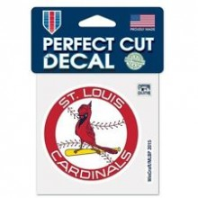 "St. Louis Cardinals 4"" X 4""  Perfect Cut decal"