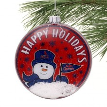 St. Louis Cardinals Glass Disc Snowman Ornament