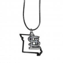 MLB St. Louis Cardinals Womens State Charm Necklace,18""