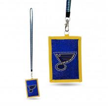 St. Louis Blues Beaded Lanyard I.D. Wallet