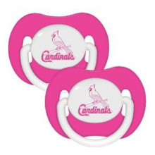 St. Louis Cardinals Baby Fanatics 2 Pack Pink Pacifiers