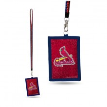 MLB St. Louis Cardinals Beaded Lanyard I.D. Wallet