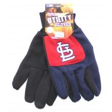 MLB St. Louis Cardinals Blue Fingers Utility Gloves