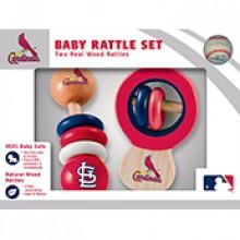 St. Louis Cardinals Wooden Baby Rattle Set