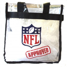 Tampa Bay Buccaneers Sherpa Trimmed Throw and Stadium Approved Clear Tote Bag