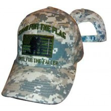 Stand For The Flag Kneel For The Fallen Camo Tactical Hat Cap