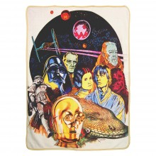 Star Wars Retro Collage Super Plush Fleece Throw