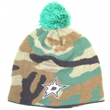 NHL Licensed Dallas Stars Camo Knit Beanie