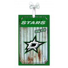 Dallas Stars Corrugated Metal Sign Ornament