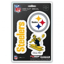 Pittsburgh Steelers 3 Pack Die Cut Decals