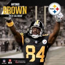 Pittsburgh Steelers 12 x 12 Inch Antonio Brown Wall Calendar 2019