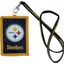 NFL Pittsburgh Steelers Beaded Lanyard I.D. Wallet