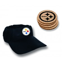 Pittsburgh Steelers  Team Colored Cap Coaster Set
