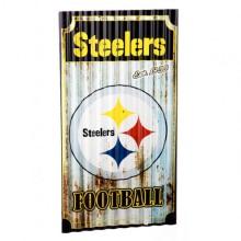Pittsburgh Steelers Corrugated Metal Ornament