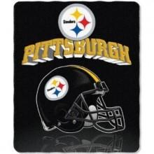 """Pittsburgh Steelers 50"""" x 60"""" Gridiron Fleece Throw Blanket"""