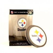 Pittsburgh Steelers  Pint and Coaster Set