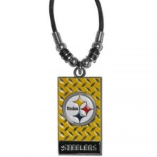 Pittsburg Steelers Diamond Plate Rope Necklace, 20-Inch