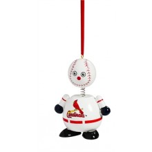 St. Louis Cardinals  Wooden Ball Man Ornament