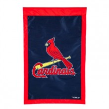 """St. Louis Cardinals  28"""" x 44"""" Two Sided Applique House Flag"""