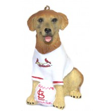 St. Louis Cardinals Golden Retriever Team Dog Ornament