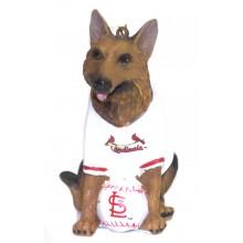 St. Louis Cardinals Shepherd Team Dog Ornament