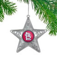 "St. Louis Cardinals  4"" Silver Star Ornament"