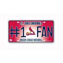St. Louis Cardinals #1 Fan Metal Auto Tag