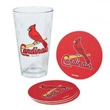 St. Louis Cardinals Pint and Coaster Set