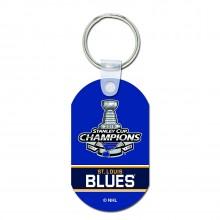 St. Louis Blues 2019 Stanley Cup Champions Team Colors Aluminum Keychain