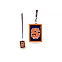 Syracuse Orange Beaded Lanyard I.D. Wallet