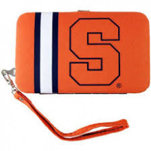 "Syracuse Orange Distressed Wallet Wristlet Case (3.5"" X .5"" X 6"")"