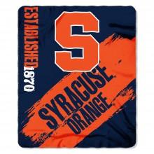 Syracuse Orange Established Painted Fleece Throw