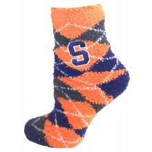 Syracuse Argyle Fuzzy Lounge Socks