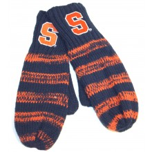 Syracuse Orange Striped Mittens