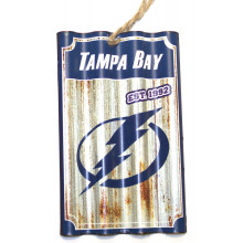 Tampa Bay Lightning Corrugated Metal Sign Ornament