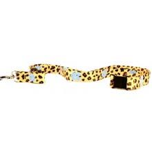 NCAA North Carolina Tar Heels Leopard Print Breakaway Lanyard Key Chain