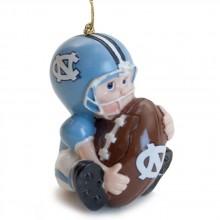NCAA North Carolina Tar Heels (UNC) Lil' Fan Football Player Acrylic Ornament