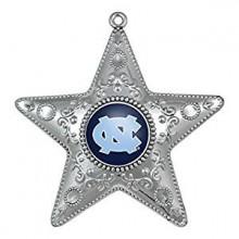 "North Carolina Tar Heels 4"" Silver Star Ornament"