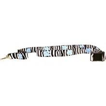 NCAA North Carolina Tar Heels Zebra print Breakaway Lanyard Key Chain