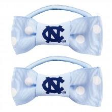 North Carolina Tar Heels Bow Pigtail Holders