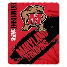 Maryland Terrapins Established Painted Fleece Throw