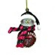 Texas Tech Red Raiders Minature Snowman Ornament