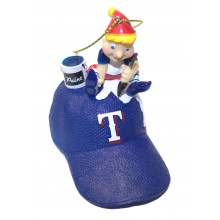 Texas Rangers Elf Painting Ornament