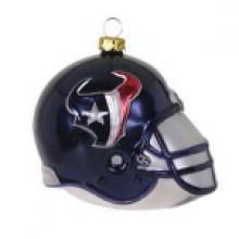 Houston Texans Blown Glass Team Helmet Ornament